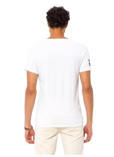 LC Waikiki Baskılı Tişört Beyaz